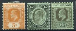 Établissements Des Détroits 1906 Neuf * 100% Le Roi Édouard VII - Straits Settlements