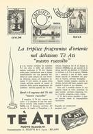 # TE ATI 1950s Advert Pubblicità Publicitè Reklame Food Tea The Te Ceylon Sri Lanka India Indonesia - Manifesti