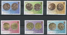 """Jersey 2011: """"Antique Coins Found In Grouville"""" Michel-No.1583-88 ** MNH - START BELOW POSTAL FACE VALUE (£ 3.74) - Archaeology"""