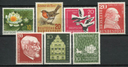 Allemagne Bund 1957 Mi. 274-280 Neuf ** 100% Caractère, Personnalité - Neufs