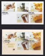 New Zealand 2013 Honey Bees Set Of 5 + Minisheet Used - New Zealand