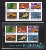 New Zealand 2013 KORU - Matariki Self-adhesives + Minisheet Used - New Zealand