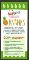 # PINEAPPLE ORIGINE COOP Fruit Tag Balise Etiqueta Anhanger Ananas Comosus Pina - Fruits & Vegetables