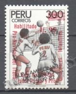Peru / Perou 1988 Yvert 891, Christmas Charity, Overprinted - MNH - Perú