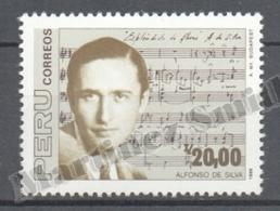 Peru / Perou 1988 Yvert 888, Music, Tribute To Composer Alfonso De Silva - MNH - Perú
