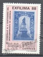 Peru / Perou 1988 Yvert 884, 100th Ann. Birth Of Paintor Jose Sabogal - MNH - Peru