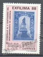 Peru / Perou 1988 Yvert 884, 100th Ann. Birth Of Paintor Jose Sabogal - MNH - Perú