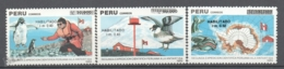 Peru / Perou 1991 Yvert 950-52, Second Peruvian Expedition To The Antarctic - MNH - Peru