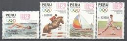 Peru / Perou 1991 Yvert 945-48, IV South American Sports Gmaes - MNH - Perú