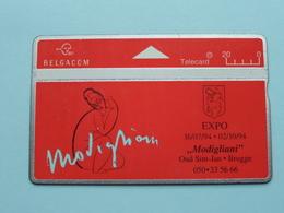 """EXPO 1994 - """" MODIGLIANI """" Oud Sint-Jan BRUGGE ( Zie Foto's ) Belgacom ! - Schilderijen"""