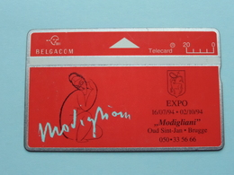 "EXPO 1994 - "" MODIGLIANI "" Oud Sint-Jan BRUGGE ( Zie Foto's ) Belgacom ! - Peinture"