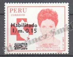Peru / Perou 1991 Yvert 949, Peruvian Red Cross - MNH - Perú
