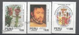 Peru / Perou 1991 Yvert 953-55, 300th Ann. National University Of San Antonio Abad Del Cusco - MNH - Peru