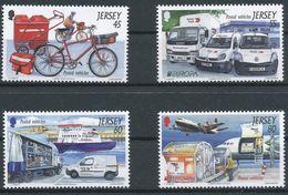 "Jersey 2013: ""Postal Vehicles"" Michel-No. 1714-17 ** MNH - START BELOW POSTAL FACE VALUE (£ 2.40) - Post"