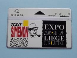 Tout SIMENON - EXPO 1993 Liège Luik Luttich ( Zie Foto's ) Belgacom ! - Telefonkarten
