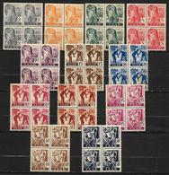 SARRE   -   1947 .  LOT De BLOCS  De 4  Neufs ** - Saargebiet
