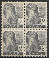 SARRE   -   1947 . Y&T N° 196  **  En Bloc De 4. - Sarre