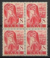 SARRE   -   1947 . Y&T N° 199  **  En Bloc De 4. - Saargebiet