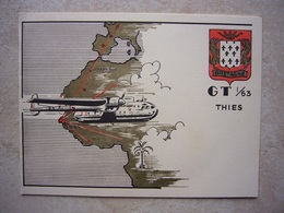 """Avion / Airplane / Armée Française / Nord 2501 """"Noratlas"""" / GT 1/63 THIES Bretagne / 2 Volets - 1946-....: Ere Moderne"""