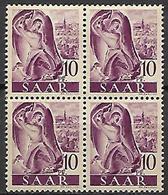 SARRE   -   1947 . Y&T N° 200 **  En Bloc De 4. - Sarre