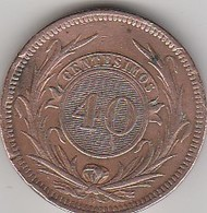 URUGUAY - 5 CENTESIMOS 1857 D - TRES TRES BEAU - - Uruguay