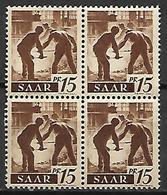 SARRE   -   1947 . Y&T N° 202 **  En Bloc De 4. - Saargebiet