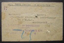 Madagascar 1941 Petite Lettre D'Ambositra  Pour Anjozorobe , Cachet Mauve, Voir Photos - Madagascar (1889-1960)