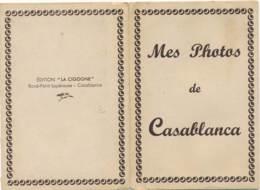 """AC (Pochette 10 Photos Format 66x111mm) -B3394 -Maroc """"Mes Photos De Casablanca""""(Nature, Catégorie , état....Voir Scans) - Places"""