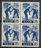 SARRE   -   1947 . Y&T N° 203 **  En Bloc De 4. - Saargebiet