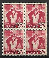 SARRE   -   1947 . Y&T N° 204 **  En Bloc De 4. - Saargebiet
