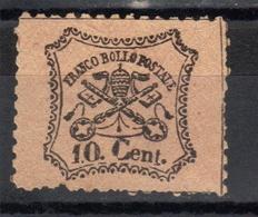 Papal States,Definitive 10 C 1868.,MNG - Etats Pontificaux
