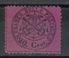 Papal States,Definitive 20 C 1868.,MNG - Etats Pontificaux