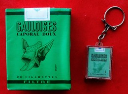 COLLECTION  Paquet De GAULOISES VERTES Filtre Caporal Doux JACNO + Porte Clef - Around Cigarettes