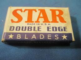 Lames De Rasoir Anciennes/STAR/Blades/Double Edge/Made In USA/( 4 Lames)/Made By 6NX Process/Vers1920-50      PARF107 - Razor Blades