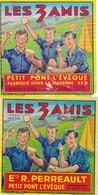 ETIQUETTE FROMAGE  - PONT L'EVEQUE -  2 étiquettes  LES 3 AMIS -   Fab En Mayenne  53-B - Fromage