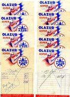 FACTURE - Lot De 9 Factures: Huile OLAZUR - Automobile