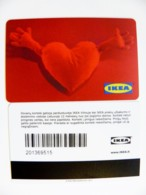 Plastic Magnetic Card Carte IKEA Gift Present Card, Heart - Autres Collections