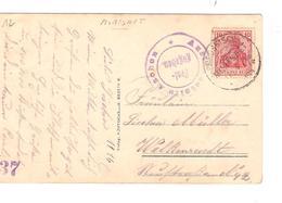 JS576/ Guerre-Oorlog 14-18 TP Germania S/CP Fantaisie C.Morenet (Prusse-Preussich) 1916 Censure Aachen V.Welkenradt - [OC1/25] General Gov.