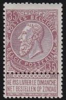 Belgie   .    OBP  .   61  .  **    .    Postfris ZONDER Charnier  .  /   .  Neuf SANS  Charniere - 1893-1900 Schmaler Bart