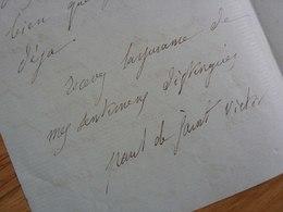 Paul De SAINT VICTOR (1825-1878) Secrétaire Alphonse DE LAMARTINE - Critique Littéraire ... AUTOGRAPHE - Autographes