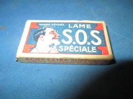 Lames De Rasoir Anciennes/SOS Spéciale/Acier Extra Supérieur/Marque Déposée/Fab Française/( 5 Lames)/Vers1920-50 PARF109 - Lames De Rasoir
