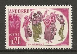 ANDORRE - Yv. N°  166  ** MNH   Folklore   Cote  5,5 Euro  TBE - French Andorra