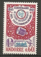 ANDORRE - Yv. N°  173  ** MNH   UIT   Cote  7 Euro  TBE - French Andorra