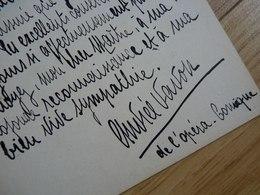 Andrée VAVON (18..- 19..) Artiste Lyrique. Cantatrice SOPRANO. Opéra Comique. AUTOGRAPHE - Autographs