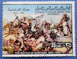 814 LIBYA 25 M 1980 THE BATTLE OF GARDABIA 1915 - USED - Libya