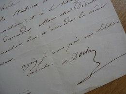 Alexandre DOCHE (1799-1849) Violoniste & Compositeur. Mari Eugénie Doche. AUTOGRAPHE - Autogramme & Autographen