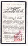 DP EZ Clementina Van Der Borght - Zr. Julienne 29j ° Moorsel Aalst 1890 † Eizeringen Lennik 1920 Klooster Dchtrs H Jozef - Imágenes Religiosas