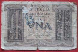 1 Lira 1935 (WPM 26?) Ausgabe 1939 - Italia – 1 Lira