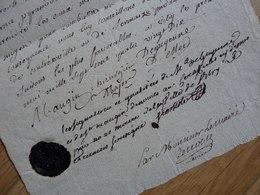 Nicolas TOUSSAINT De GUYENNE (1790) Chirurgien Hopital Prison VITRY Le François - REIMS (1790). AUTOGRAPHE - Autographs
