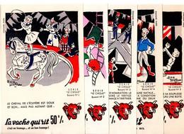 """Buvards Vache Qui Rit. Série Complète De 10 Buvards.  """" Le Cirque """" Dessins A.Saint Ogan. - Leche"""